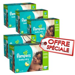 Maxi giga pack jumeaux 864 Couches de Pampers Baby Dry taille 5 sur Promo Couches