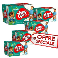 Maxi Giga Pack Jumeaux de 570 Couches de Pampers Easy Up taille 6
