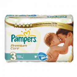 Pack de 56 Couches Pampers Premium Care Pants taille 3 sur Promo Couches