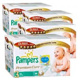 Pack économique de 336 Couches Pampers de la gamme Premium Care Pants de taille 3