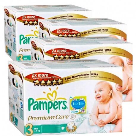 Pack économique de 336 Couches Pampers de la gamme Premium Care Pants de taille 3 sur Promo Couches
