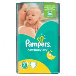 Paquet d'une quantité de 68 Couches Pampers New Baby Dry de taille 2 sur Promo Couches