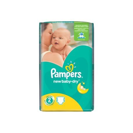 Paquet 68 Couches Pampers New Baby Dry taille 2 sur Promo Couches