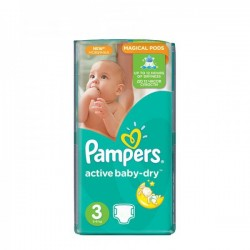 Paquet de 74 Couches Pampers Active Baby Dry taille 3