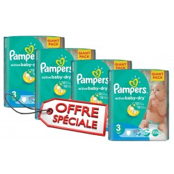 Giga pack 814 Couches Pampers Active Baby Dry de taille 3