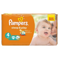 Pack de 50 Couches Pampers Sleep & Play taille 4 sur Promo Couches