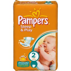 Pack 18 Couches Pampers Sleep & Play de taille 2