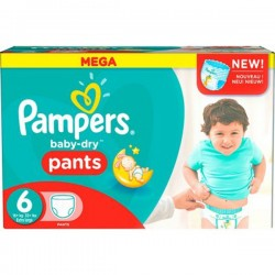 Gros pack 190 Couches Pampers de la gamme Baby Dry Pants taille 6