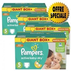 Gros pack 522 Couches de la marque Pampers Active Baby Dry taille 5