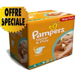 Gros pack de 250 Couches Pampers Sleep & Play taille 4 sur Promo Couches