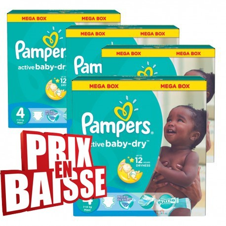 Couches pampers active baby dry taille 4 en solde 290 - Couches pampers taille 4 comparateur prix ...