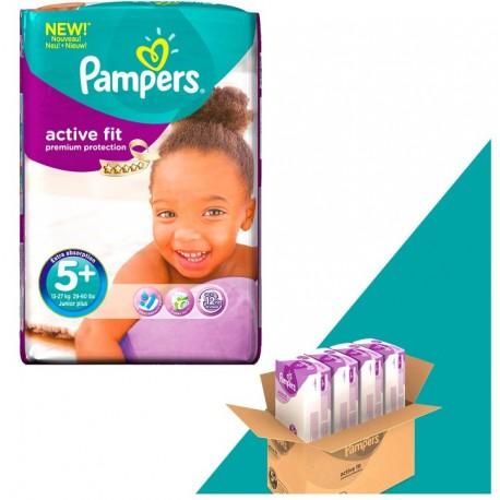 Gros pack 348 Couches Pampers Active Fit taille 5+ sur Promo Couches