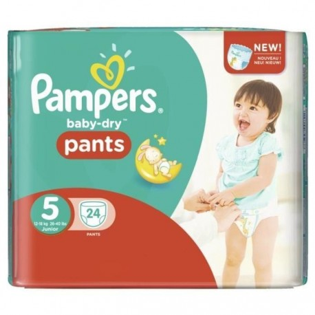 24 couches pampers baby dry pants taille 5 pas cher sur - Couche pampers taille 5 pas cher ...