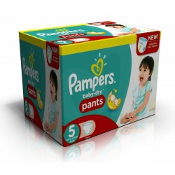 Maxi Giga Pack 120 Couches Pampers Baby Dry Pants 5 sur Promo Couches