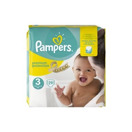 Pack 29 Couches Pampers Premium Protection 3 sur Promo Couches