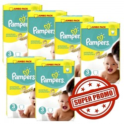Pack économique 435 Couches Pampers Premium Protection 3