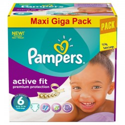 Gros pack 248 Couches Pampers Active Fit taille 6 sur Promo Couches