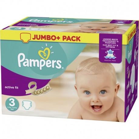 Pack d'une quantité de 120 Couches Pampers Active Fit taille 3 sur Promo Couches