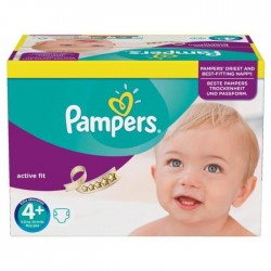 Pack 21 Couches Pampers Active Fit taille 4+ sur Promo Couches
