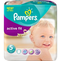 Pack 92 Couches de Pampers Active Fit taille 5 sur Promo Couches