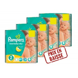 Mega Pack 272 Couches Pampers New Baby Dry 2
