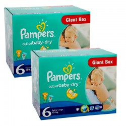 Giga Pack 288 couches Pampers Active Baby Dry sur Promo Couches