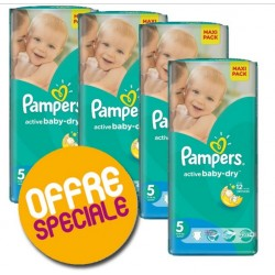Giga Pack 232 couches Pampers Active Baby Dry sur Promo Couches