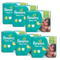 Maxi Giga Pack 301 Couches Pampers Baby Dry sur Promo Couches