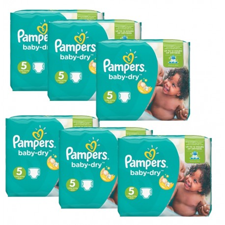 Pack économique 301 Couches Pampers Baby Dry 5+ sur Promo Couches