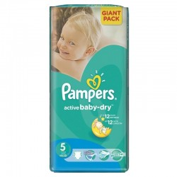 Pack 42 Couches Pampers Active Baby Dry taille 5 sur Promo Couches