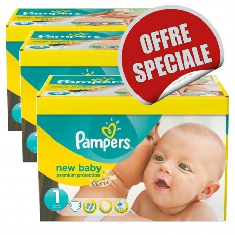 Maxi Pack 516 Couches Pampers New Baby Dry taille 1 sur Promo Couches