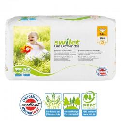 Pack 28 Couches bio écologiques Swilet Premium Protection taille 2 sur Promo Couches