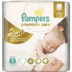 Pack 41 Couches Pampers Premium Care taille 1