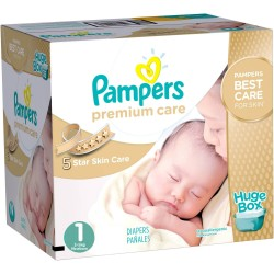 Maxi Giga pack 164 Couches Pampers Premium Care taille 1