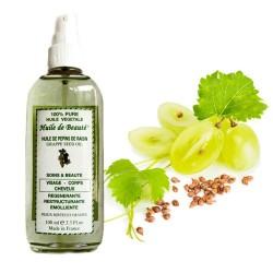 Huile de beauté aux pépins de raisin 100% végétale et pure sur Promo Couches