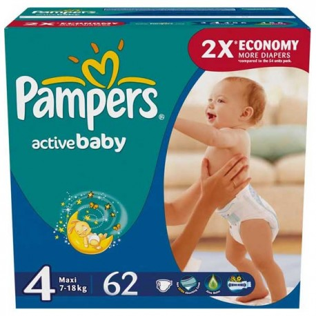 Couches pampers active baby taille 4 en promotion 62 couches sur promo couches - Couches pampers en promo ...