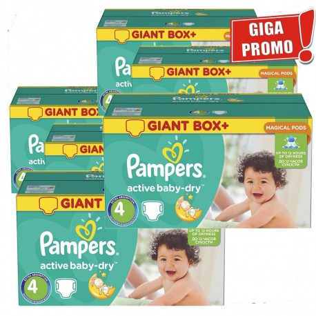 Maxi Pack 792 Couches Pampers Active Baby Dry taille 4 sur Promo Couches