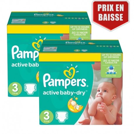 410 couches pampers active baby dry taille 3 en promotion - Couches pampers baby dry taille 3 ...