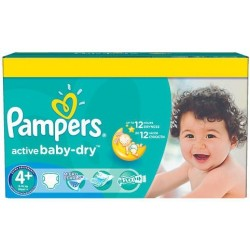 Paquet 112 Couches Pampers Active Baby Dry taille 4+ sur Promo Couches