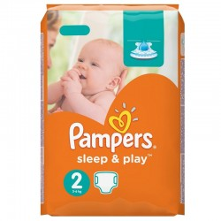 Pack 68 Couches Pampers Sleep & Play taille 2