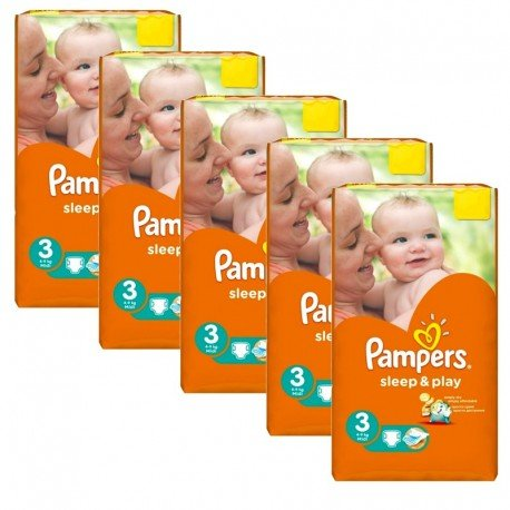 pack 112 Couches Pampers Sleep & Play taille 3 sur Promo Couches