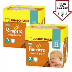 giga pack 448 Couches Pampers Sleep & Play taille 3