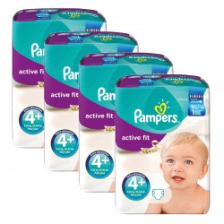 Giga pack 282 Couches Pampers Active Fit taille 4+ sur Promo Couches