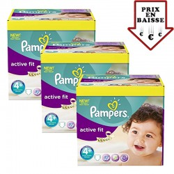 giga pack 470 Couches Pampers Active Fit taille 4+ sur Promo Couches