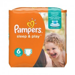 Pack 58 Couches Pampers Sleep & Play taille 6 sur Promo Couches