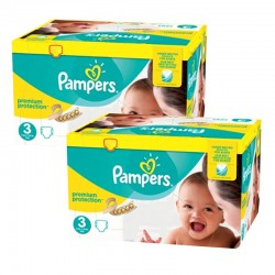 Maxi Mega Pack 400 Couches Pampers Premium Protection - New Baby taille 3