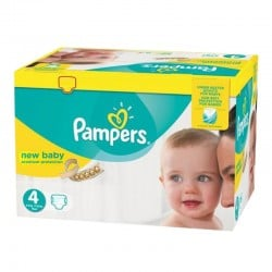 Pack 168 Couches Pampers Premium Protection - New Baby taille 4