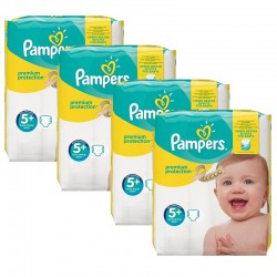 Mega Pack 160 Couches Pampers Premium Protection - New Baby taille 5+ sur Promo Couches