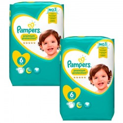 Giga Pack 240 Couches Pampers Premium Protection - New Baby taille 6 sur Promo Couches