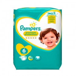Pack 31 Couches Pampers Premium Protection - New Baby taille 6